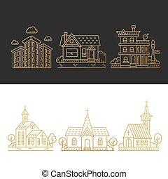 ville, bâtiments