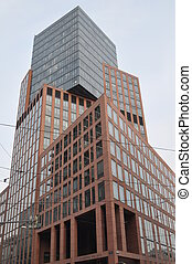 ville, bâtiments, moderne