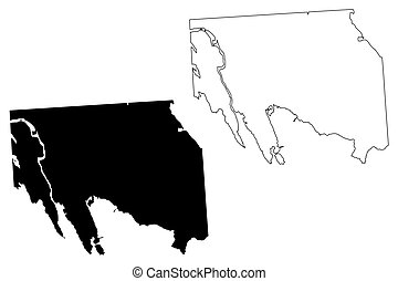 ville, (canada, illustration, vecteur, territory), iqaluit, ...