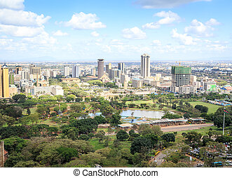 ville, -, capital, cityscape, kenya, nairobi