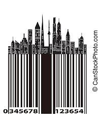 ville, code barres