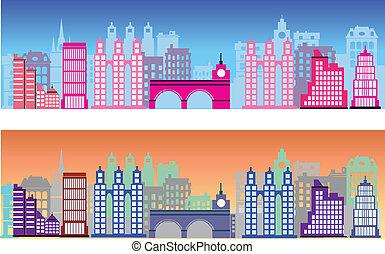 ville, coloré