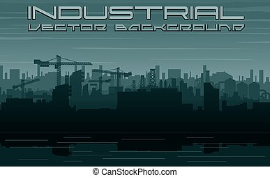 ville, construction, industry., paysage, urbain