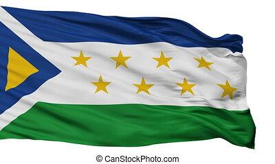 ville, costa, drapeau, isolé, grecia, rica