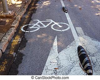 ville, couloir, vélos, vélo