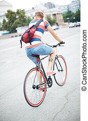 ville, cycliste