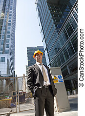 ville, directeur, construction