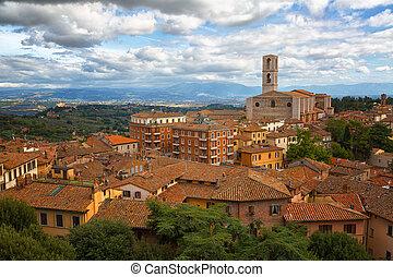 ville, domenico, basilique, vieux, san, di, perugia, -,...