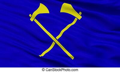 ville, drapeau, helier, closeup, saint, jersey