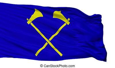ville, drapeau, isolé, helier, saint, jersey