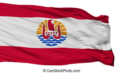 ville, drapeau, isolé, polynésie française, france