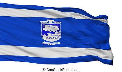 ville, drapeau israël, isolé, version, holon