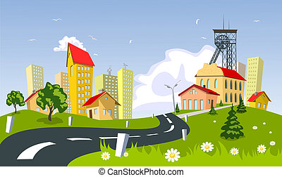 ville, exploitation minière