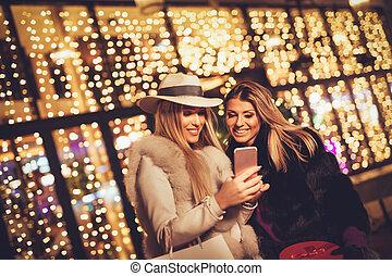 ville, femme, temps, vacances, amis, mieux