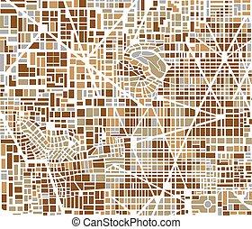 ville, fond, carte