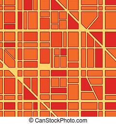 ville, fond, district