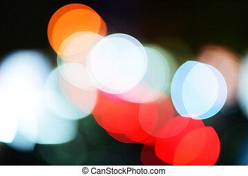 ville, fond, lumières