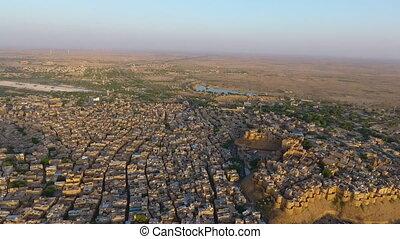 ville, grand, indien, désert