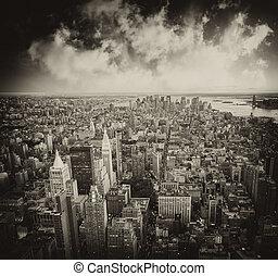 ville, gratte-ciel, -, york, nouveau, manhattan