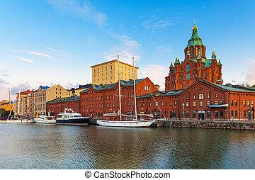 ville, helsinki, finlande, vieux