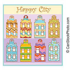 ville, heureux