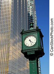 ville, horloge