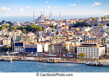 ville, istanbul, bondé