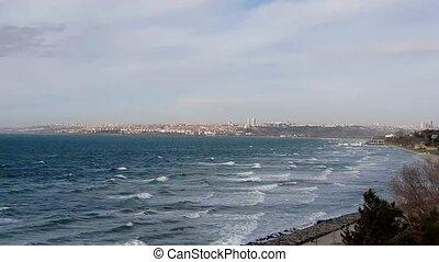 ville, istanbul., turkey., riche, marmara, public, il, une, élevé, localisé, sea., mer, magnifique, fin, long, istanbul, classe, florya, secteurs