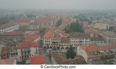 ville, italie, jour, padoue, brumeux, coup, aérien