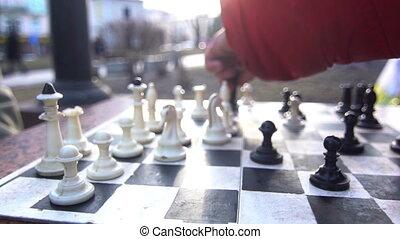 ville, jeu, rue, échecs