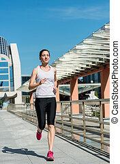 ville, jogging