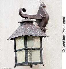 ville, lampe, vieux