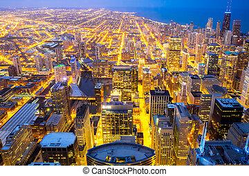 ville, michigan, lac, chicago