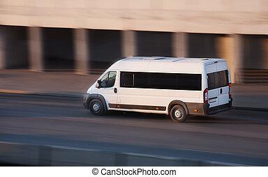 ville, minibus, va, route