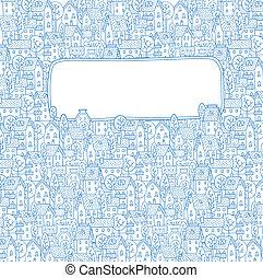 ville, modèle, salutation, fenêtre, texte, carte