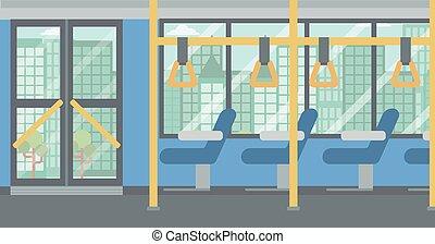 ville, moderne, bus., vide, fond