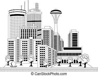 ville, moderne