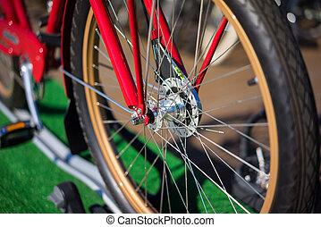 ville, moderne, vélo