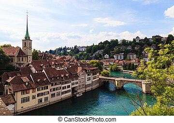 ville, mondiale, capital, site, berne, suisse, héritage, unesco