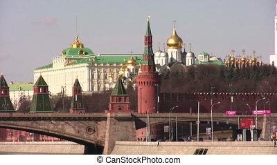 ville, moscou, construction, kremlin