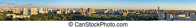ville, moscou, vue aérienne