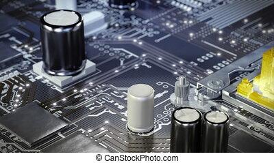 ville, neural, communication, motherboard., 4k, future., networks.