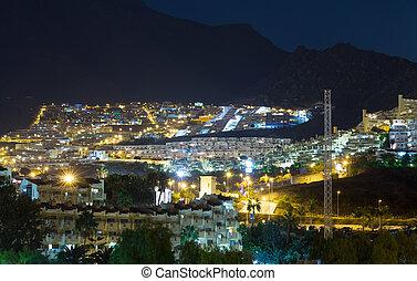 ville, night., vue