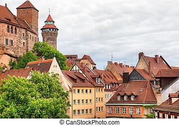 ville, nuremberg, vieux