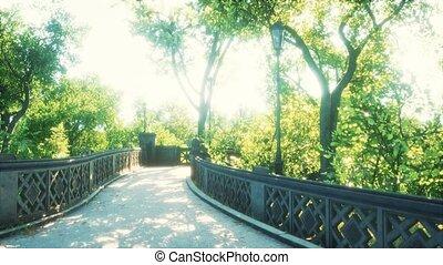 ville, paisible, parc