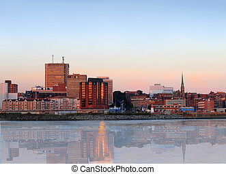 ville, panorama, john, saint, nouveau brunswick