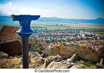 ville, panoramique, rural, vue, roumaine