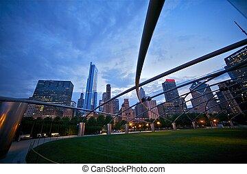 ville, park:, millénaire, chicago