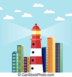 ville, phare