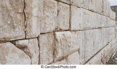 ville, pierre, ancien, vieux, mur, texture, sagalassos